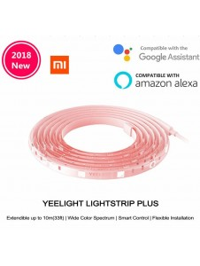 [ORIGINAL] XIAOMI Yeelight New 2018 Smart Aurora Lightstrip Plus Multicolor RGB LED 2M YLDD04YL Wireless Light Strip WiFi Smart App Control for Decoration 100-240V Support for 10M Extension Line