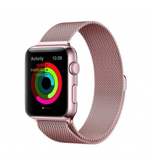 [LOCAL SELLER] Apple Watch Band Milanese Loop Strap Stainless Steel Rose Gold for Apple iWatch Series 1 / 2 / 3 / 4 Edition 42mm / 44mm