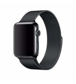 [FAST DELIVERY . LOCAL SELLER] Apple Watch Band Milanese Loop Strap Stainless Steel Space Black for Apple iWatch Series 1 / 2 / 3 / 4 Edition 42mm / 44mm