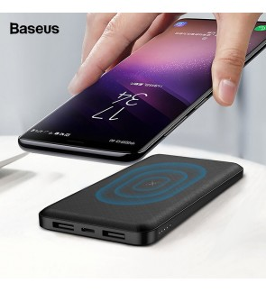 Baseus M36 10000mAh Qi Wireless Charger Power Bank For iPhone XS Max Samsung Dual USB External Battery Wireless Charging Powerbank