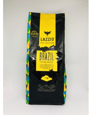 (Australian Import) LAZZIO Single Origin Whole Coffee Beans Brazil Serra Negra 1KG