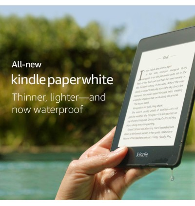 All-new AMAZON Kindle Paperwhite 4, 2018 (10th Generation Paperwhite) – Now Waterproof with 2x the Storage, 8GB WiFi