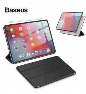 "BASEUS Smart Leather Case for 11"" iPad Pro Case 2018 Magnetic Simplism Y-Type Leather Auto Sleep Wake Up Folio Case for Apple iPad 2018 Case 11 inch"