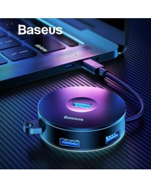 [ORIGINAL] BASEUS Round Box Hub Adapter 4-in-1 USB Port with USB 3.0 for Mac OS, Windows, Google, Linux