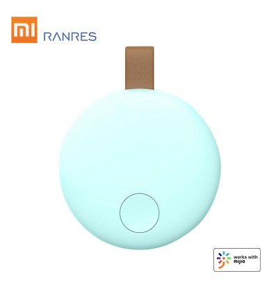 Xiaomi Ranres Smart Tracker Mini Anti Lost Finder Wireless Two-Way Mutual Search BT Tag Tracker APP Tracking Reminder Anti Lost Alarm Positioning Finder for Child Key Wallet Package Phone