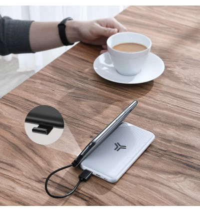 Baseus S10 Bracket Power Bank 10000mAh 18W with Wireless Charger Qi Fast Charging Power Bank Quick Charge 3.0 PD Portable External Battery