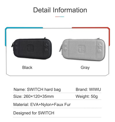 WIWU Shell Lite Portable Hardshell Travel Carrying Case For Nintendo Switch Slim Hard Case with 8pcs Game Slots in Side Zipper Pocket Water Proof Shockproof Scratch-Resistant