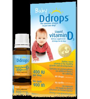 Ddrops Baby Ddrops Liquid Vitamin D3, 400IU 0.08 fl oz 2.5 ml / 90 drops