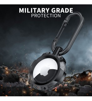 Case For AirTag Military Grade TPU Protective Case Anti-Lost Tracker Cover Shockproof Keychain Rugged Design [C179]