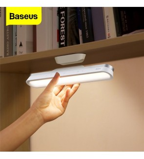 BASEUS Desk Lamp Hanging Magnetic LED Table Lamp Rechargeable Stepless Dimming Cabinet Light Night Light For Home Cabinet Study Reading Closet Wardrobe [C176]